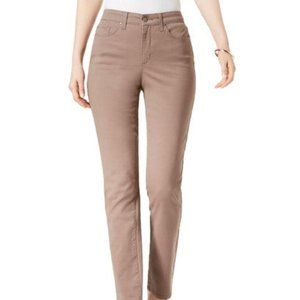 Charter Club Mocha Rose Straight-Leg Jeans Size 16